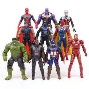 Christmas gift Action Figures Toys Set Marvel Avengers Spiderman Hulk Iron Man