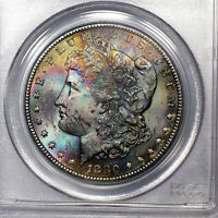1880-S MS63 Morgan Silver Dollar $1, PCGS Graded, Deep Colorfully Toned