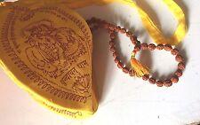 Hindu/Yoga/Meditation Rudraksha Mala & Hare Krishna Prayer Mala Bag 108+1 beads