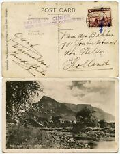 SOUTH WEST AFRICA WW2 CENSORED PPC to NETHERLANDS 1 1/2d RATE 26 MARCH 1940 + HS
