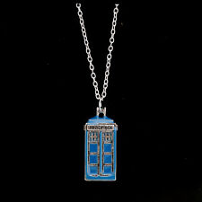 Unique Doctor Who 3D TARDIS Police Jewelry Fashion Box Pendant Charming Necklace