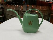 Vintage Garden Scene Small Green Indoor / Outdoor Plastic Plant Watering Can