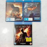 BATMAN The Dark Knight Trilogy 3 x Blu-ray Bundle - Christian Bale (Aus Seller)