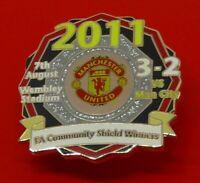 Danbury Man Utd Pin Badge Manchester United Football Club Community Shield 2011
