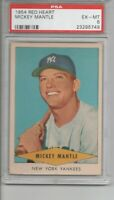 1954 RED HEART MICKEY MANTLE  PSA 6 - Sharp Centering - Superb Eye Appeal
