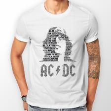 4634593eccbed T Shirts   Hoodies Unisex (WHITE) ACDC - AC DC Music Memorabilia