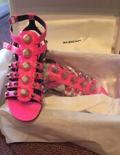 Balenciaga Fluoro Pink Gladiator Sandals, Sz 36.5, BNIB
