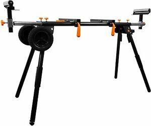 NEW - WEN MSA330 Collapsible Rolling Miter Saw Stand with 3 Onboard Outlets