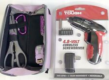 Rechargeable Battery Screwdriver & 5Pc Ladies Home Repair Hand Tool Set in