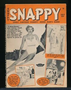 SNAPPY July 1956 Spicy Humorama Cartoon Pin-Up Digest BETTIE PAGE Tempest Storm
