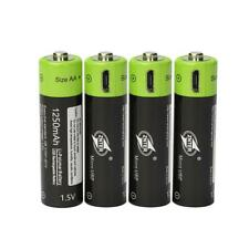 4pcs ZNTER 1.5V AA 1250mAh rechargeable li-ion battery+ USB Charge Cable