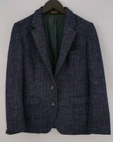 Women Harris Tweed Blazer Jacket Wool DE38 IT44 UK12 QDA799