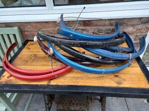 bundle of raleigh bsa etc vintage town bike mudguards   freepost