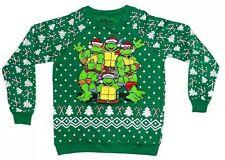 Christmas Teenage Mutant Ninja Turtles Ugly Sweatshirt PULLOVER PLUS SZ jnrs 3x