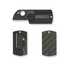 Spyderco DOGtag S30V Blade Knife Carbon Fiber Serge Panchenko Design  C188CFBBKP