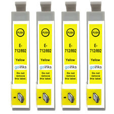 4 Yellow Ink Cartridges for Epson Stylus BX3450, DX4000, DX4050, DX7400, SX200
