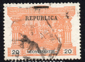 Portugal 20 Reis Postage Due Stamp c1898 Used (163a)