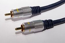 Pro Signal HQ Subwoofer phono/RCA to phono/RCA OFC Audio cable 2M