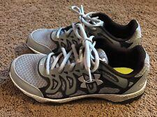 Mens Under Armour Tennis Shoes Athletic Size 7 Gray Black UA