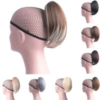 Women Synthetic Claw Clip Ponytail Hair Extension Short Cute Pony Tail Hairpiece
