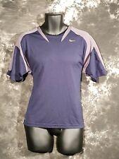 Men's Nike Fit Blue Exercise Workout Shirt Medium M Short Sleeve Swoosh