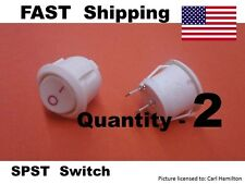 2 pack -- ON / OFF Universal Replacement Switch SW - AC DC - 12v 9v 120v 250v