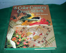 8-COLOR COUNTRY CROSS-STITCH HARDBACK BOOK SARAH STEVENSON