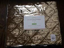 "ONE (1) NIP POTTERY BARN bronze Nia velvet quilted Euro sham 26"" square"