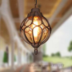 Garden Chandelier Lighting Hallway Ceiling Light Outdoor Waterproof Pendant Lamp