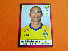 435 MAJSTOROVIC CELTIC FC SVERIGE FOOTBALL PANINI UEFA EURO 2012