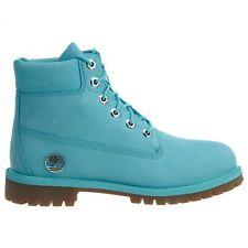 """Timberland 6"""" Premium Big Kids TB0A1KRZ Tidepool Blue Waterproof Boots Size 7"""