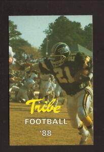 William & Mary Tribe--1988 Football Pocket Schedule--Berkley Realty