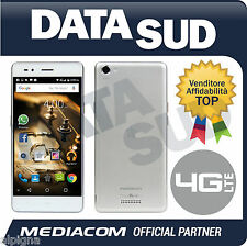 Smartphone MEDIACOM PhonePad Duo B500 4G LTE ARGENTO/WHITE/SILVER M-PPAB500