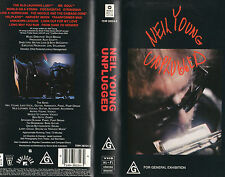 NEIL YOUNG - UNPLUGGED - VHS - PAL - NEW - Never played!! - Very, very rare!!