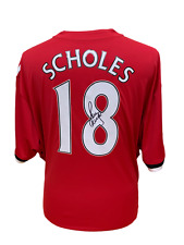 64fd9e147ad WHOLESALE DEAL 10 x PAUL SCHOLES SIGNED MANCHESTER UNITED FOOTBALL SHIRT  PROOF