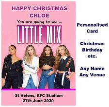 LITTLE MIX 2020 Concert show Tour Ticket Wallet Card Birthday Christmas etc.