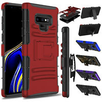 For Samsung Galaxy Note 9 /SM-N960U Case Shockproof Clip Hard Stand Rugged Cover