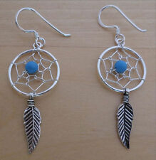 Hook Turquoise Round Costume Earrings