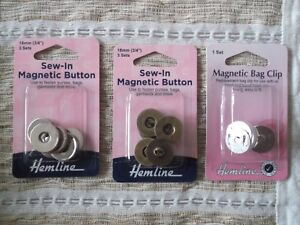 HEMLINE MAGNETIC CLIP / BUTTON- for Bags,purses,garments and more