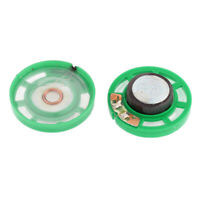 Imán del altavoz Verde 0,25 W con carcasa de plástico electrónica de 28x8mm 2pcs