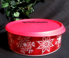 Tupperware New Christmas Holiday Snow Flake Place Like Home Cookie Canister