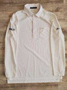 RLX Ralph Lauren Polo Mens Large Long Sleeve White Golf Shirt