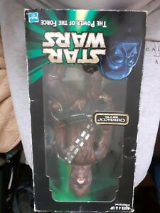 """Star Wars THE POWER OF THE FORCE 13"""" CHEWBACCA Hasbro 1999 Factory Sealed (G5)"""