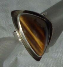 Wunderschöner Silber Ring mit Tigerauge  / 925 Silber gepunzt / Sterlingsilber