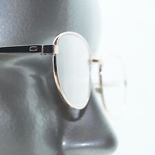 Petite Oval Gold Metal Wire Reading Glasses Classic Simple Frame +1.00 Lens