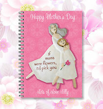 Personalised Pink Mother's Day Gift A6 Notebook we will add your required text