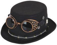 Para Hombre Steampunk Sombrero Gafas Victoriano inventor Carnaval Disfraz Accesorio