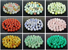 Wholesale Matte Frosted Natural Gemstone Round Loose Beads 4mm 6mm 8mm 10mm 12mm