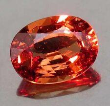 3.02 cts Natural Oval-cut Peach->Red ClrChg VVS1 Malaya Garnet (Tanzania)