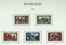 GERMANY 1950-51 FRENCH ZONE SAAR VOLKSHILFE 5v FINE MINT STAMPS